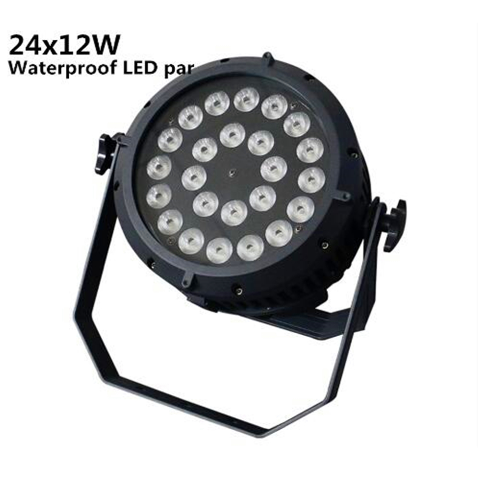 24X12W RGBW 4in1 LED Par Can Stage Lighting IP65 waterproof led DJ DMX512 control professional par light
