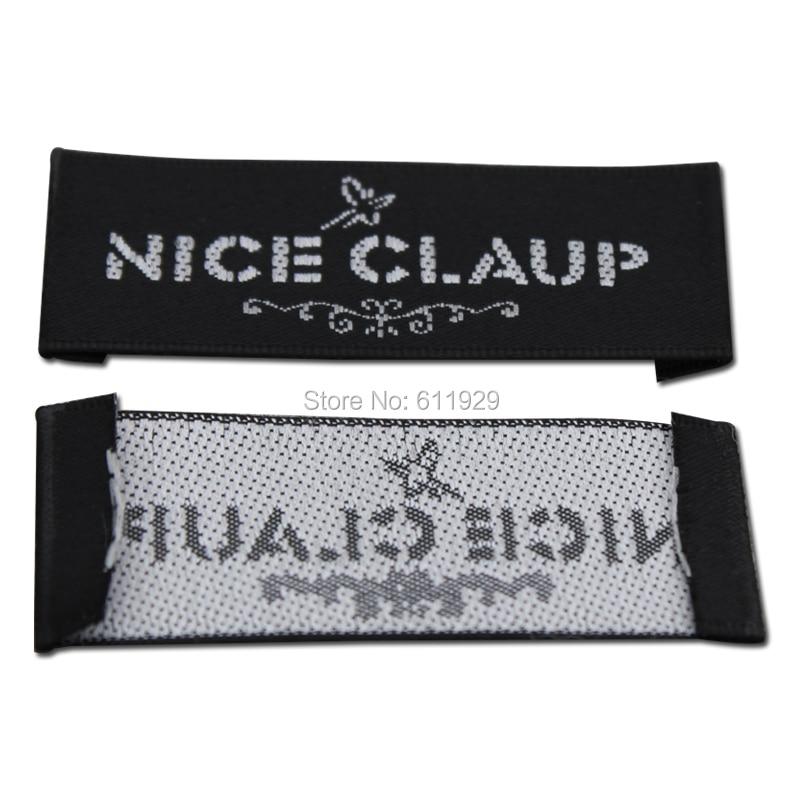 HOT SALE] Customized clothing black satin labels/Trademark