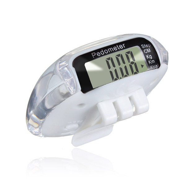Super sell White LCD Digital Multi Pedometer Calorie Counter Run Fitness - White
