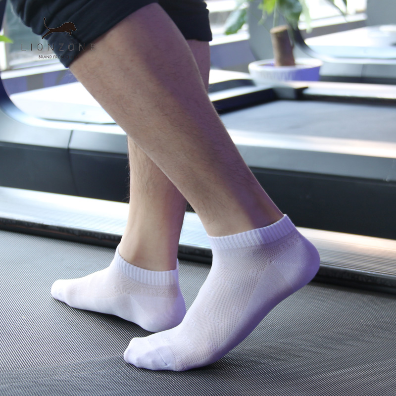 Sporty Ankle Men Socks Muti Pure Colors Newly Spring Antibacterial Breathable Hot Gentleman Invisible Bamboo Boat Socks