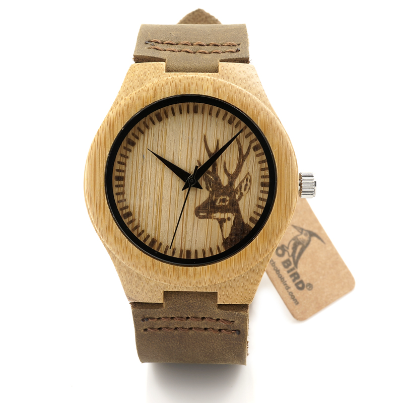 3.5CM/4.1CM BOBO BIRD Brand Men Women Watches Bamboo Wood Famous Quartz Watch Luxury Wood Wristwatches Reloj Hombre  C07  Luxury