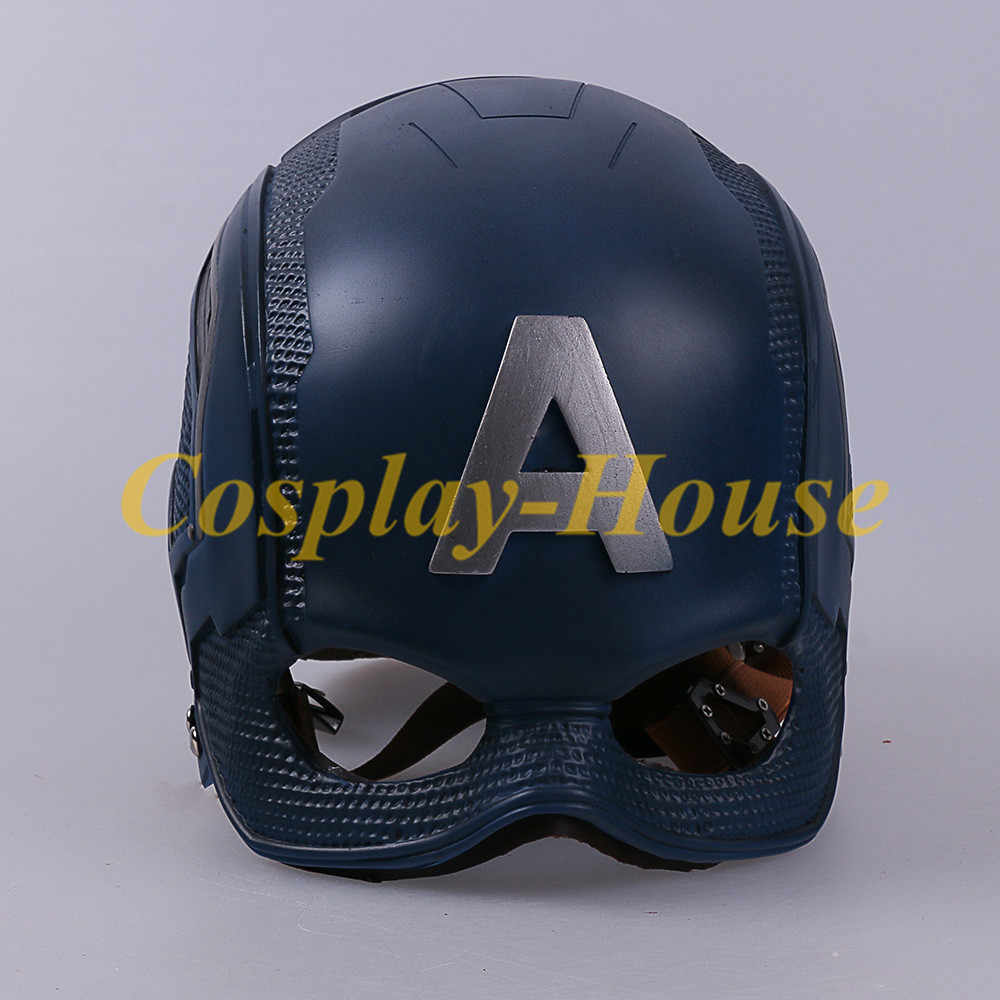 Cos Movie Superhero Captain America Helmet Cosplay Steven Rogers Mask PVC Man Adult Halloween Party Prop