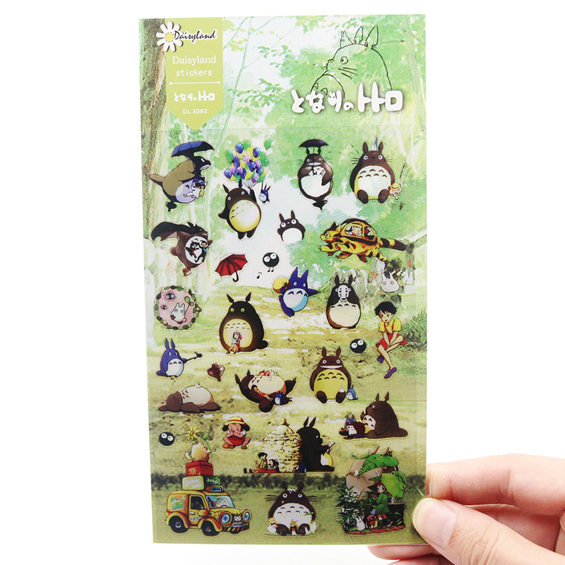 1 PCS New Cute Cartoon Daisyland My Neighbor Totoro Design Diary Gallery Children Stationery Letter Decorative Pet Sticker 8 pcs lot funny sticker cute bear penguin cat decorative adhesive for diary letter scrapbook school supplies stationery
