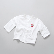 Baby Shirts White Cotton Children Clothing High Quality Boys Girls Blouses Full Sleeve Toddlers Clothes