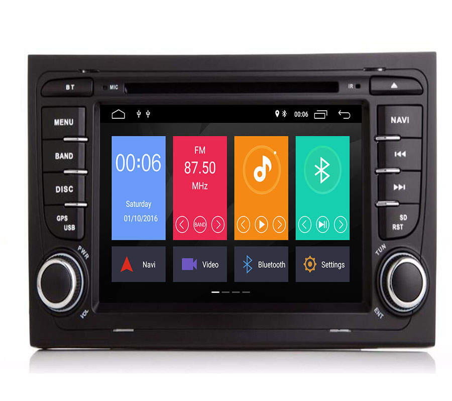 Android 9.1 2G CAR GPS For <font><b>Audi</b></font> <font><b>A4</b></font> <font><b>B6</b></font> B7 S4 B7 <font><b>B6</b></font> RS4 B7 SEAT Exeo dvd player radio stereo IPS screen <font><b>multimedia</b></font> auto navigation image