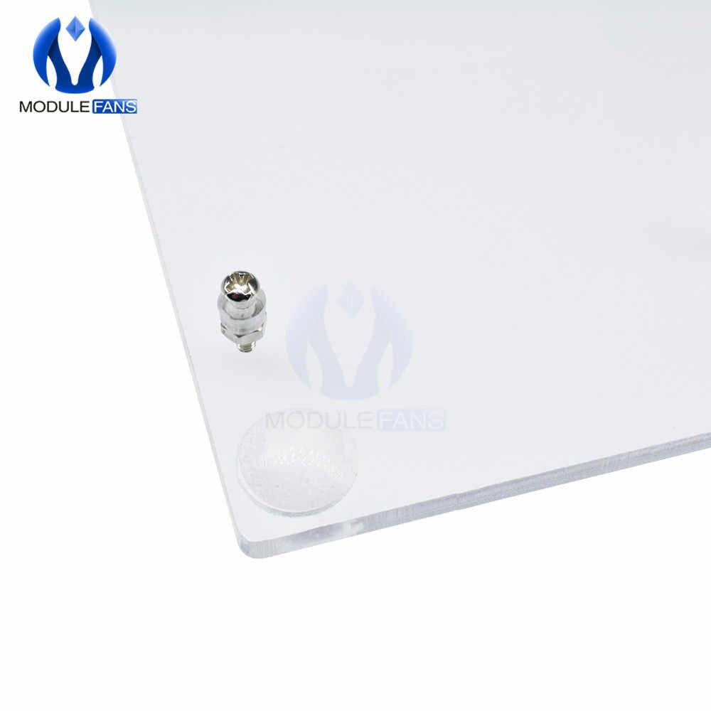 Boîtier coque boîte universelle pour Arduino UNO plateforme expérimentale Transparent Transparent acrylique panneau un bricolage électronique kit de bricolage Pcb