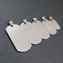 316L Stainless Steel Silver Dog Tags Pendant Stainless Steel Dog Tags Necklace Fashion Jewelry(China)