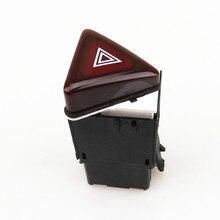 READXT Car Dark Red Alarm Warining Hazard Double Flash Switch Button accessories For Golf 5 MK5  Rabbit 18G 953 509 18G953509