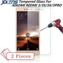 2PCS Tempered Glass For XIAOMI REDMI 3 3S 3X 3PRO PRO prime Screen Protective 5 inch cover