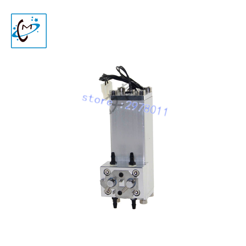 Hot sale!!!  Outdoor large format printer machine Flora LJ-320P / 3204P / 3208P aluminum ink cartridge sub tank spare part hot sale single dx5 ink pump assembly for flora versacamm leopard large format printer machine