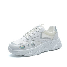 Outdoor Sneakers Women Casual Shining flat Walking Shoes New Fashion Lightweight Breathable pink and offwhite good ShoesJINBEIL