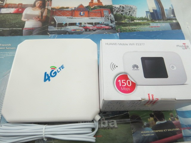 Unlock Huawei E5377 E5377s-32 CAT4 150Mbps 4G LTE  Wireless Router 3G UMTS WiFi Mobile Hotspot+4G TS9 35DBi antenna
