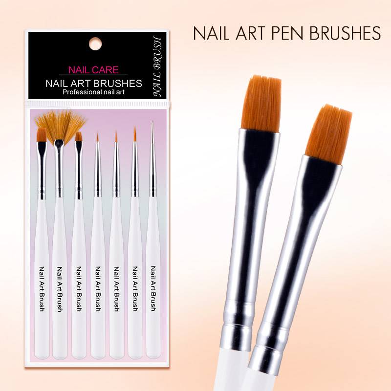 Azure Beauty New Arrival 7Pcs/Set Nail Art Painting Brush White ...