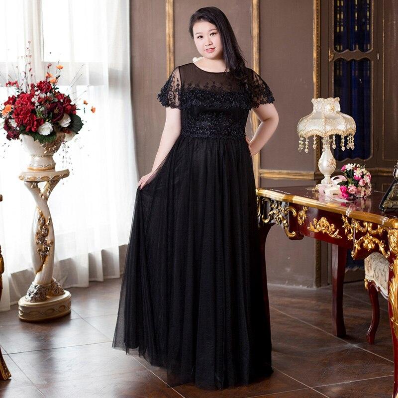 FADISTEE nouveauté élégante longue robe de bal robes de soirée robe formelle manches en dentelle simple noir mère de la mariée robes - 4