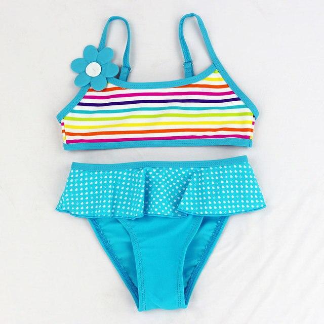 34c6027aad2ba Mädchen split Zwei stücke bademode bikini kinder bademode mädchen  badeanzüge baby Floral badeanzug mädchen badebekleidung beachwear