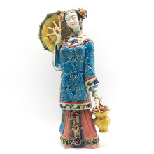 Real Porcelain Figurine Collectible Ceramic Statue Art Chinese Traditional Culture Ornament Classical Craft for Home Decor