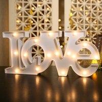 2 размеров Love моделирование Фея Ночные светильники ABS Пластик светодиодные настольные лампы атмосферу комнаты Свадебная вечеринка украшен...