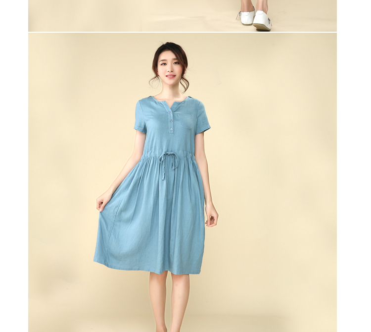 ad89d6b178377 Autumn Women Dress 2014 Solid Color Pleated Plus Size Maternity Clothes  Dress for Pregnant Lady Skirt -in Dresses from Mother & Kids on  Aliexpress.com ...