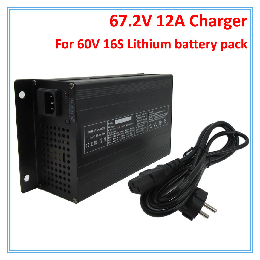 900W 60V 12A lithium charger Ouput 67 2V 12A charger XT60 port Used for 60V 16S
