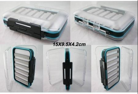 wholesale  30pcs/lot  high-quality Exclusive New hard prastic fly box DS-Large with slit foam