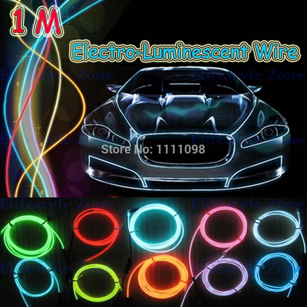 1 м/ Лот гибкая неоновый свет El Электро люминесцентные провода с контроллером украшения автомобиля для Тесла Хендай КИА Лада