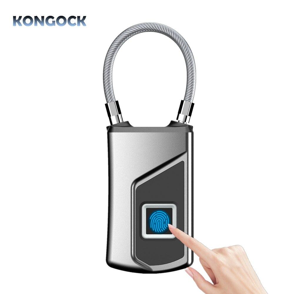 Serrure intelligente portative imperméable sans fil d'empreinte digitale sans clé pour le sac de bagage ou la porte de tiroir etc.