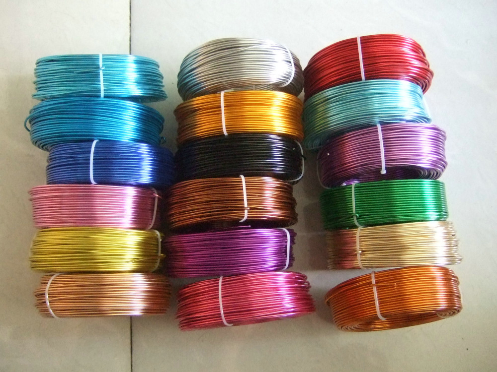 3 Meters / Roll 2.5mm Round Aluminium Carft Floristry Wire For Jewellery Beading Making