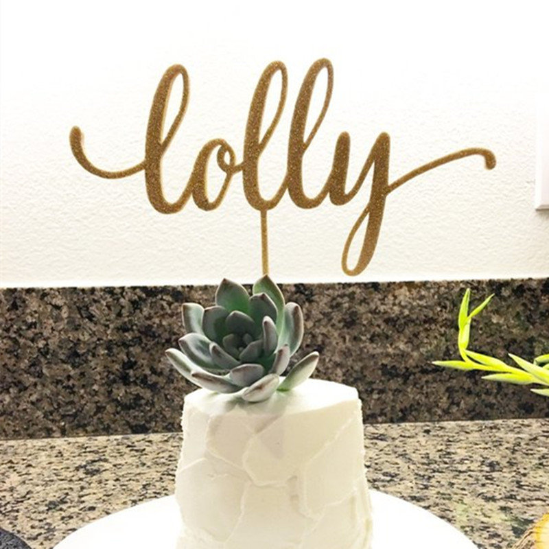 Custom Name Cake Topper Acrylic Lasercut Font 2 Personalised Single Name