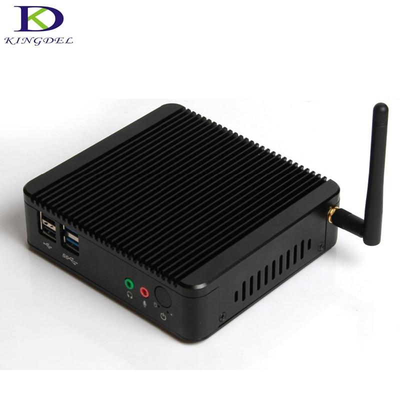 Kingdel New Model Micro Desktop PC Intel Celeron J1900 Quad Core Dual LAN 300M WIFI USB 3.0 HDMI TV Box HTPC