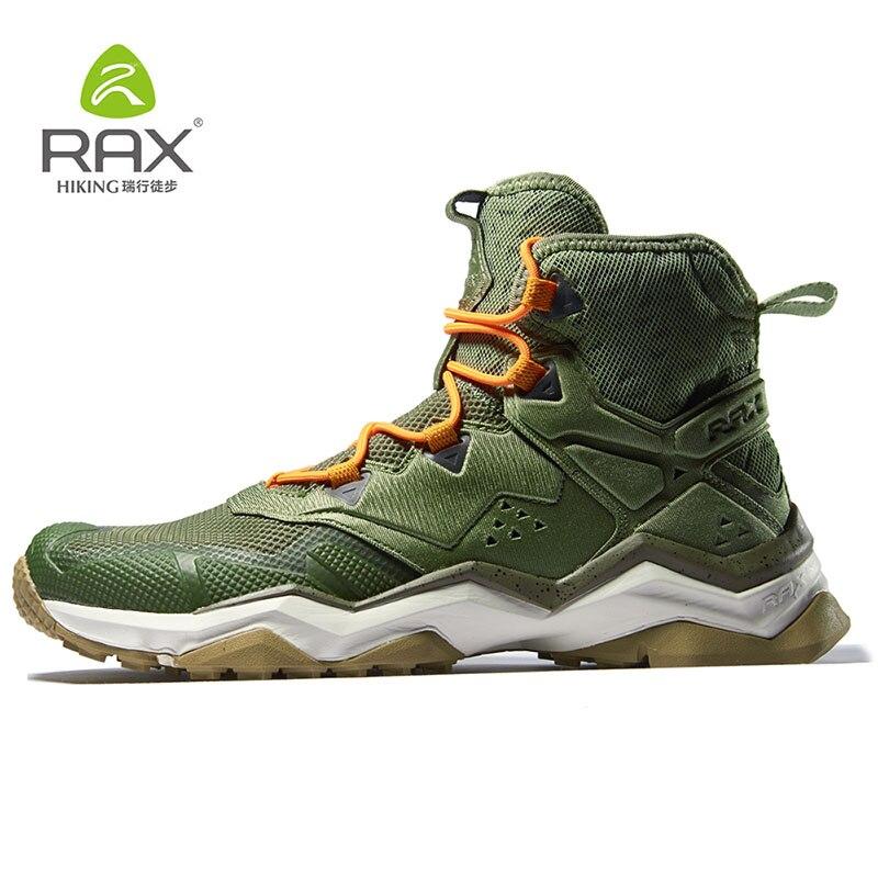 RAX hiking обувь Водонепроницаемый Открытый спортивные кроссовки для мужские походные ботинки зимние сапоги теплые легкие дышащие ботинки для ...