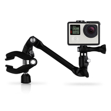 Sport Action Camera Music Instrument Mount for GoPro HERO 4 3+ Mini DV Guitar Drum Clips 360 Rotate Music Mount Arm Stand Clamp