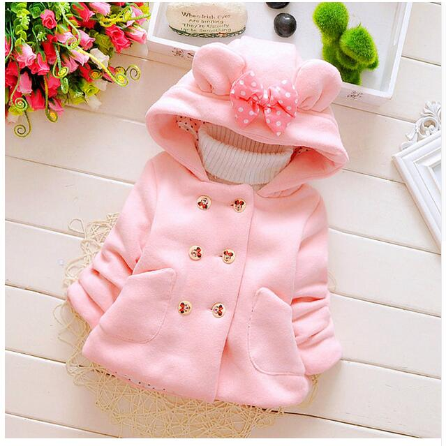 2016-new-spring-and-autumn-baby-girl-cotton-coat-thick-double-breasted-bow-hooded-jacket-children-0-2-years-brand-free-shipping-2
