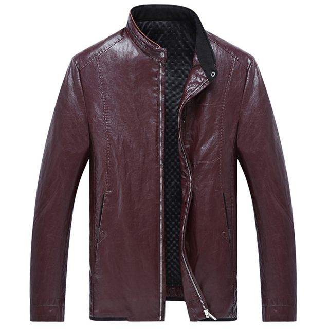 Vintage Men Leather Overcoat Plus Size 7XL Big and Tall Man Leather Jackets and Coats Outwear High Quality Mens Spring Coat C266