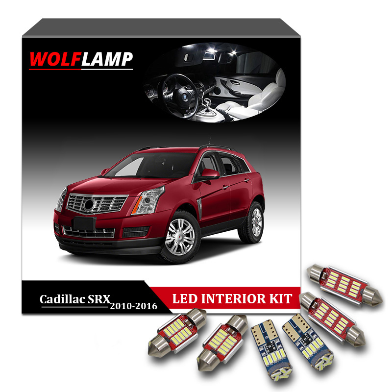 Genteel Wolflamp 15pcs Ice Blue White Canbus Led Interior Car Lights For 2010-2016 Cadillac Srx Door Light Dome Lamp License Plate Bulb
