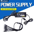 DC 12V 5A AC Adapter CCTV Power Supply Adapter Box 1 To 8 Port For The CCTV Surveillance Camera System ABS Plastic