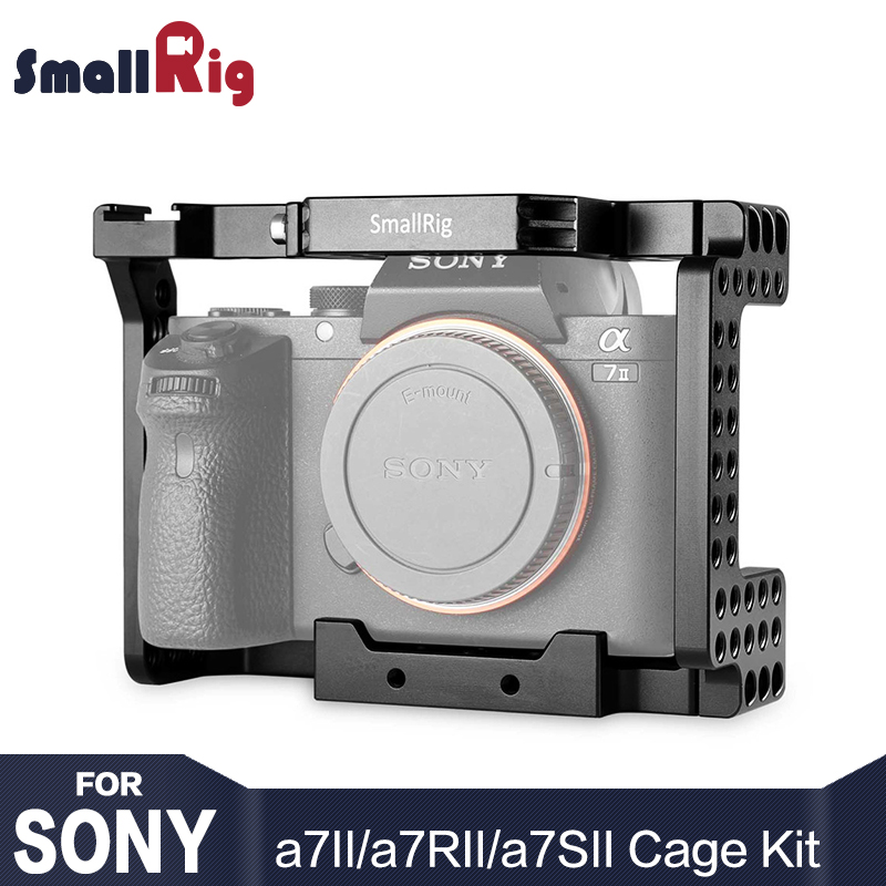SmallRig A7M2 Cage Aluminum Alloy Camera Cage for SONY A7II / A7RII / A7SII Camera Form Fitting Cell With Cold Shoe Mount - 1660 form fitting solid cami dress