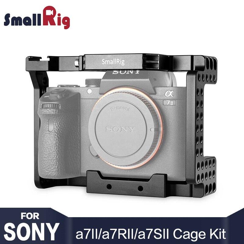 SmallRig A7M2 Cage En Alliage D'aluminium Cage caméra pour SONY A7II/A7RII/A7SII Caméra Forme Montage Cellulaire Avec Froid Chaussures montage-1660