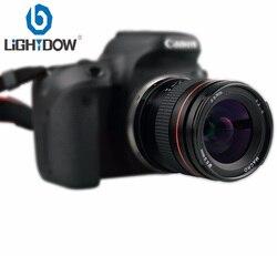 Объектив Lightdow 35 мм F2.0 с фиксированной фокусировкой и большой диафрагмой, ручной Полнокадровый объектив для цифровых зеркальных камер Canon 550D...