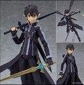 Espada de Arte En Línea Kirigaya Kazuto Figura de Acción PVC Figure Toy 140 MM Juego Anime Espada de Arte En Línea SAO Modelo Figma muñeca