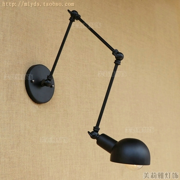 Vintage wall light glass wall lamp 110V 220V wall lamp for workroom bedroom Bathroom dinning living room swing arm wall lights