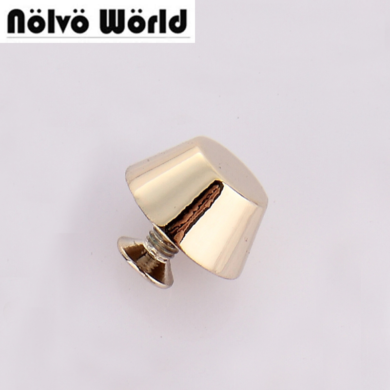 100pcs 4 colors 12 6mm light gold rivets 100 copper stud hardware for DIY bags bottom