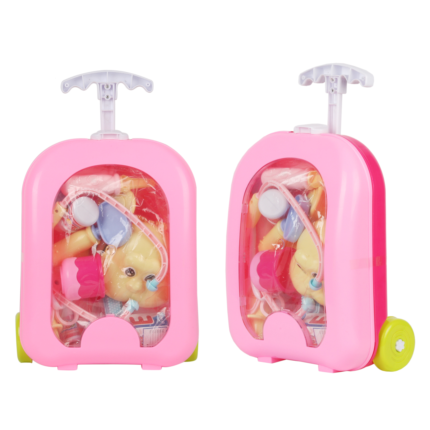 17pcs/set Children Pretend Play Doctor Nurse Toy Portable Suitcase Medical Suitcase Kit Kids Educational Role Play Classic Toys