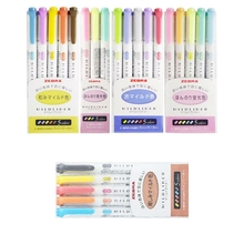 Japanese Zebra Mildliner Set Mild Liner Double Headed Highlighter Pen Drawing color Art Marker Pens Scribble Stationery