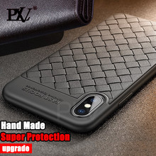 PLV Luxury Ultra Thin Soft TPU Cases For iPhone 7 8 6 6s Plus X Cover Weave Striae Phone Case For iPhone X 10 8 7 6 6s Cases