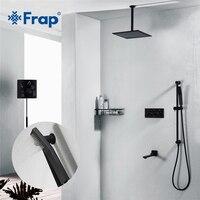 Frap черный смеситель для душа для ванной кран смесительная Ванна комнаты коснитесь набор для ванной набор для душа Смесители для душа скрыты