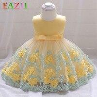 EAZII Summer Baby Dresses Girl Princess Dress Flower Toddler Infant Newborn Baby Girls Party Wedding Dress 0 2Y Baby Lace Dress