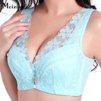Meizimei bh bralette lingerie sexy plus grande taille soutiens-gorge pour femmes push up sous-vêtements en dentelle brassière intimes à armatures minimizerBC