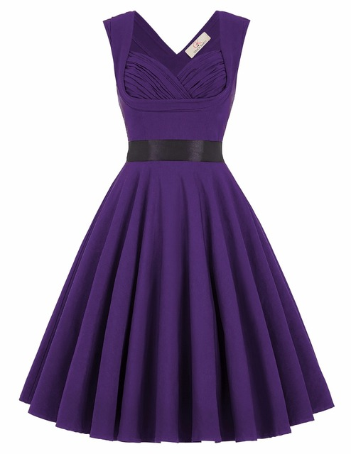 Womens Robe Vintage London Palace Dresses 2016 Pin Up Swing 50s V-Back High Stretchy Princess Women Party Vestidos Clothing