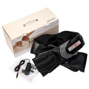 Image 5 - Home Car U Shape Electrical Shiatsu Back Neck Shoulder Body Massager Infrared Heated Kneading Car/Home Massagem