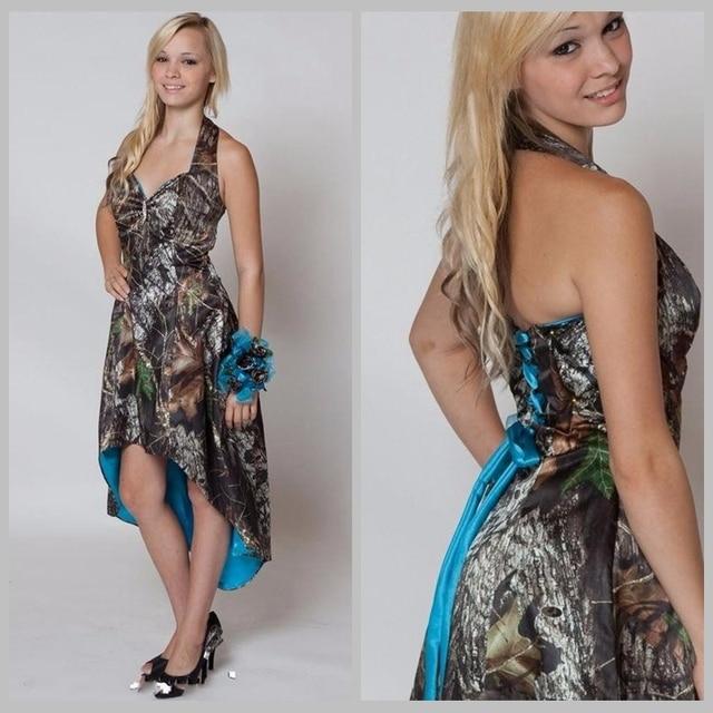 Aliexpress.com : Buy Blue Camo Bridesmaid Dresses Short Front Long ...